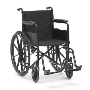 Livewell Black Sport Self Propel Aid Mag Wheels Folding Steel Wheelchair