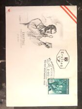 1950 Vienna Austria First Day Cover Fdc Century Of Austrian Postage Stamps