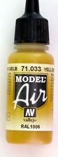 Vallejo Model Air Paint: 17ml  71033 Yellow Ochre