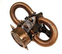 Steampunk Half Mask Gear Spike Punk Goth Fetish Burning man Antique Copper