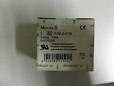 Klöckner Moeller FAZ-3-C16 Leistungsschalter Neu OVP!