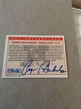 Roger Staubach HOF Vintage HAND SIGNED ON CARD 1989 ProSet w/COA Stock 002