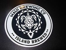 MAUI BREWING CO circl STICKER craft beer brewery Big Swell CoCoNut Porter Hawaii