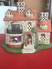 Party Lite Olde World Village Collection Bristol House P7322 Tea Light Holder