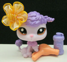 Littlest Pet Shop #1694 Shopping Mall Poodle Dog Bow Blow Dryer Accessories
