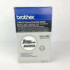Brother 2 Rolls Therma Plus Fax Paper 6890 Black 8 1/2in x 98ft -b13