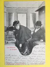 cpa 1900 Phot. BERGERET Cie NANCY Les Gêneurs en Wagon à Marie De BÜCK Bruxelles