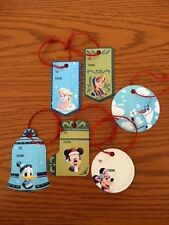 Disney Set of 6 Christmas Package Tags Mickey Minnie Donald Elsa Anna Olaf New