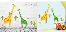 Girafes orange vert jaune cactus chambre d'ENFANTS nurserie amovible Grand