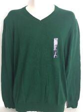 Men's GAP Green V-Neck Long Sleeve Light Weight Sweater 100% Cotton  L  NWT