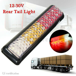 12V-30V 24 LED Trailer Rear Tail Light Brake Stop Turn Signal Lamp Waterproof