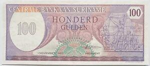 SURINAME/DUTCH GUYANA 100 GUILDEN/GUILDERS SOUTH AMERICA BANKNOTE 1986 NEDERLAND