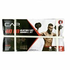 NEW 🔥 CAP 40 Lb Total Adjustable Cast Iron Dumbbell Weight Set FREE SHIPPING