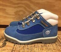 VINTAGE TIMBERLAND FIELD BOOT ROYAL BLUE WHITE YOUTH PS SZ 12-3C   16713 A