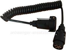 Verlängerungskabel Spiralkabel 2,5m 7-polig für Anhänger - Stecker und Steckdose