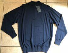 Ping Golf Mens Half-Zip Merino Wool Sweater-Heaton-S03310-Nav y Blue-Large-Nwt