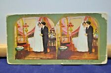 "Antique Stereoview Card - #41 (a) The Benedict - ""Married at Last"""