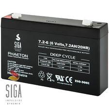 Akku 6V 7,2Ah AGM Blei Gel Batterie kompatibel Injusa DiaMec DM6-7,2 7Ah 8Ah