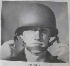 CHIN STRAP US MILITARY FOR  STEEL POT HELMET M-1 NEW, NOS IN GI PACKAGE 1980's