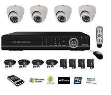 Kit de video surveillance numérique, DVR IP 4voies + caméras mini dome blanc