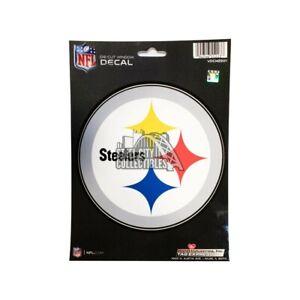 """Pittsburgh Steelers Round Logo Die-Cut Window Decal 4.5"""""""