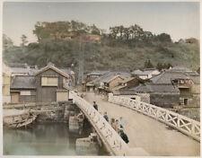 c.1880's PHOTO - JAPAN KIMBEI - 100 STEPS AT YOKOHAMA