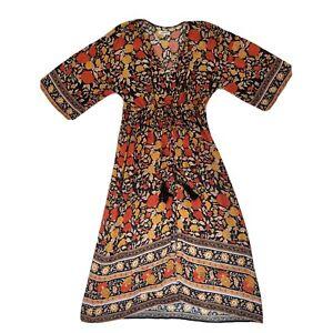 Arnhem Spanish Rose Kimono dress size 12 AU 8 US black