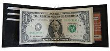 Men's Leather Bifold  Spring Money Clip Wallet ID Credit Card Holder Black New
