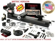 "SHERLINE 4410-C 3.5"" X 17"" LATHE (METRIC) + the ""C"" Package (INCH SEE PN 4400C)"