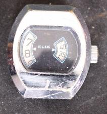 Montre mécanique ancienne à guichet ELIX, Direct time - F02-05