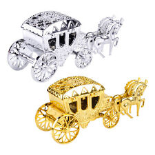 2x Gold Silver Royal Carriage Candy Chocolate Boxes Party Wedding Decoration