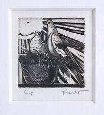 Original Etching Print by Karoly Raszler (1925-2005) Signed Custom Framed