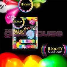 Illoom Balloons 15 Pack Multi Colour Light Up Balloons Party Kids Glow Balloon