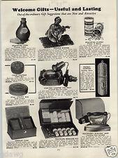 1931 PAPER AD Electric Cigar Lighter Ash Tray Incense Burner Sterling Silver