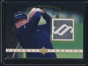 2003 Upper Deck Golf Fairway Fabrics Shirt Relic Colin Montgomerie