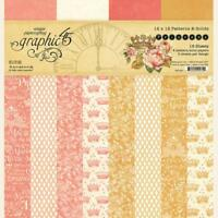 "Graphic 45 Princess - 12x12"" Paper Pad ~ Patterns & Solids Girl Baby Pink"