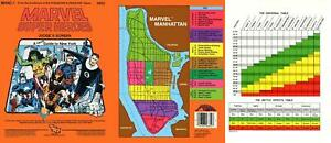 TSR Marvel Super Heroes Judges Screen w/A Hero's Guide to New York VG