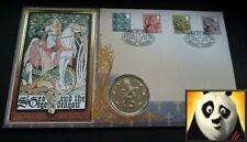 1997 Sierra Leona $1 dólares San Jorge Y Dragón León primer día cubierta de moneda