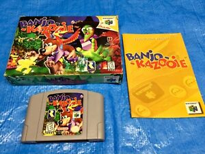 Authentic Nintendo 64 Banjo Kazooie Complete Game Box N64