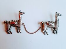 Wonderful Vintage Peruvian Peru 925 Sterling Silver Llama Alpaca Pins Signed JF