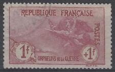 "FRANCE STAMP TIMBRE N° 154 "" ORPHELINS 1F+1F LA MARSEILLAISE "" OBLITERE TB K500"