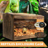 Large Wooden Reptiles Enclosure Cage Lizard Frog Snake Turtle Tank