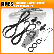 NEW 9PCS Timing Belt & Water Pump w/Drive Belt Kit For Honda Acura V6 Odyssey