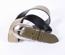 G182 rudi kronenbach señora cinturones de cuero cinturón caqui 75 - 80 cm Vintage