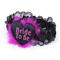 Bride To Be Garter Purple With Lace Hen Night Party Accessories Hen party UK