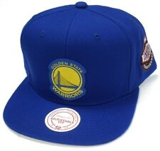 Golden State Warriors NBA Mitchell & Ness Blue Hat Cap Silicon Grass Snapback