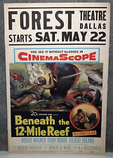 DEEP SEA DIVING 1953 movie poster BENEATH THE 12-MILE REEF/FOREST THEATRE DALLAS