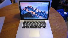 2010 15.4 Macbook Pro Unibody A1286 2.4GHz 250GB SSD 2TB HDD 8GB RAM Nvidia 330M