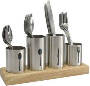 Sorbus Silverware Holder with Caddy for Spoons, Knives Forks - Utensil Organizer