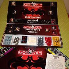 MONOPOLY BATMAN & ROBIN Collectors Edition Board Game 1997 V RARE VINTAGE RETRO